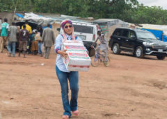 Tonto Dikeh Celebrates Birthday With IDPs (Donates Relief Materials)