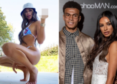 Dele Alli's ex-girlfriend, Ruby Mae gives the middle finger after it's revealed the footballer is seeking love on dating app after she dumped him