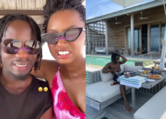 See Temi Otedola's reply as his boo Mr. Eazi plans to extend their romantic holiday at a private island